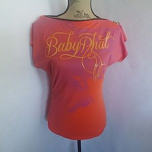 Vintage Baby Phat Zipper Neck Shirt Top